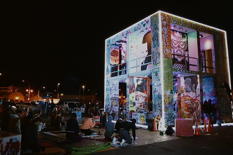 Rainbow of chaos - changing the word with art and community - the life cube project