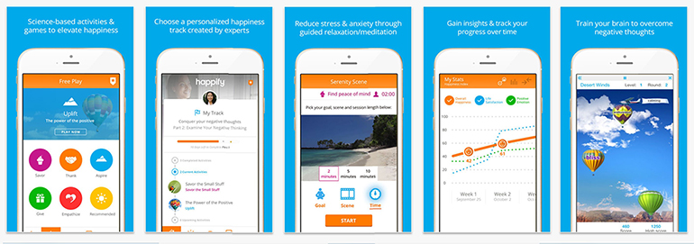 happify - The 3 Best Happiness Apps To Improve Your Well-Being