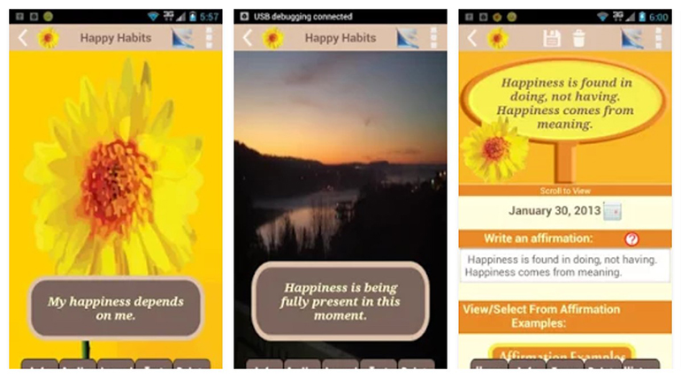 happy habits - The 3 Best Happiness Apps To Improve Your Well-Being