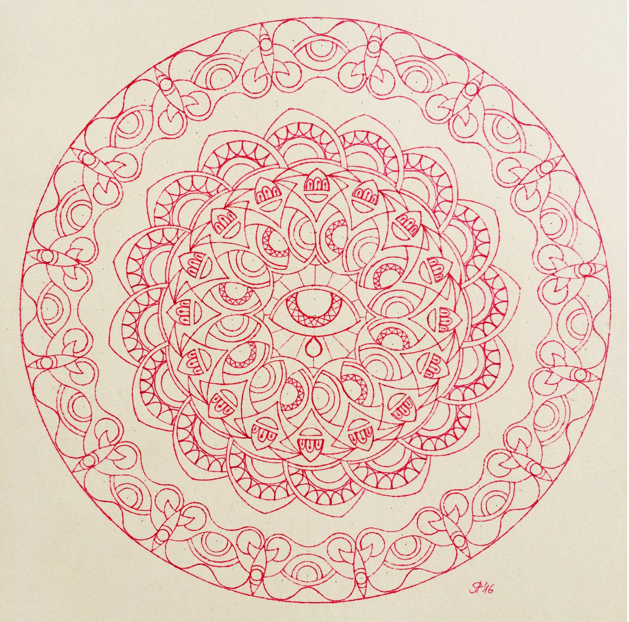 Free Printout for Mandala Coloring- free download printout - artwork by Tine Steiss for happiness.org